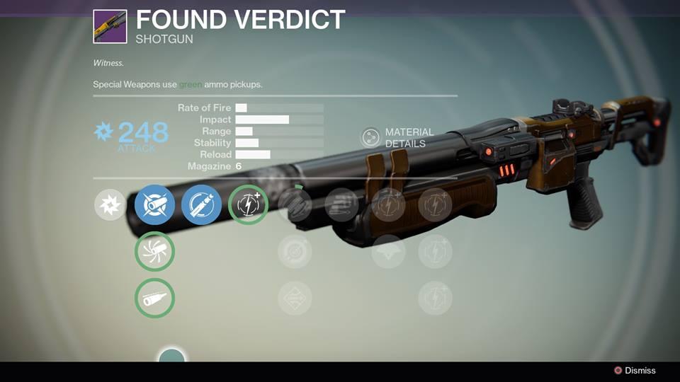 Destiny - Found Verdict Shotgun Review, VS Invective ...