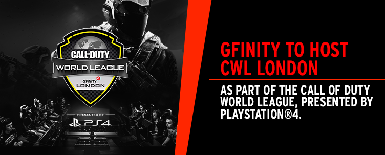 Gfinity to host CWL London as part of the Call of Duty World League, Presented by PlayStation®4.