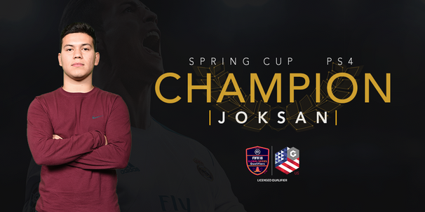 Joksan is the PS4 Champion of the Gfinity FIFA 18 US Spring Cup!