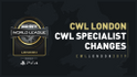 CWL Specialist Changes
