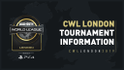 CWL London 2019 Open Tournament Information