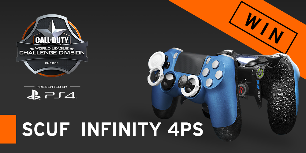 Register on the competition page to win a custom SCUF Infinity 4PS PlayStation 4 controller!