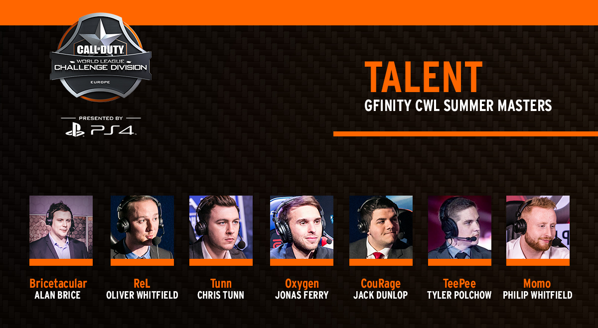 Gfinity CWL Summer Masters Talent Lineup