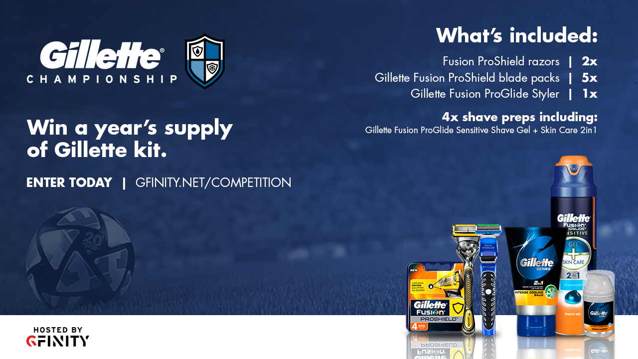 T&Cs apply. Win a year's supply of Gillette Kit!