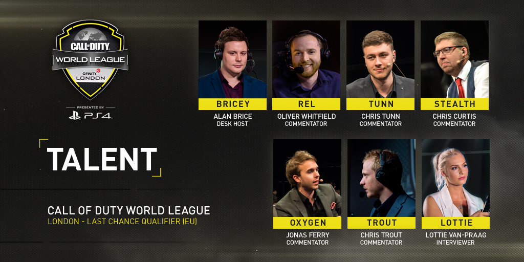 The CWL LCQ Talent line-up