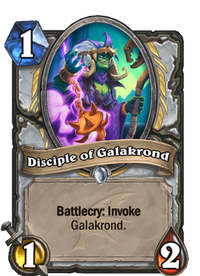 Hearthstone Disciple of Galakrond