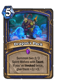 Hearthstone Dragon's Pack