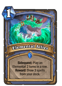 Hearthstone Elemental Allies