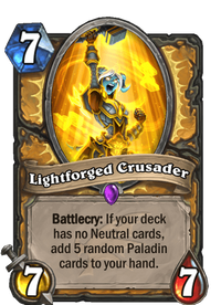 Hearthstone Lightforged Crusader